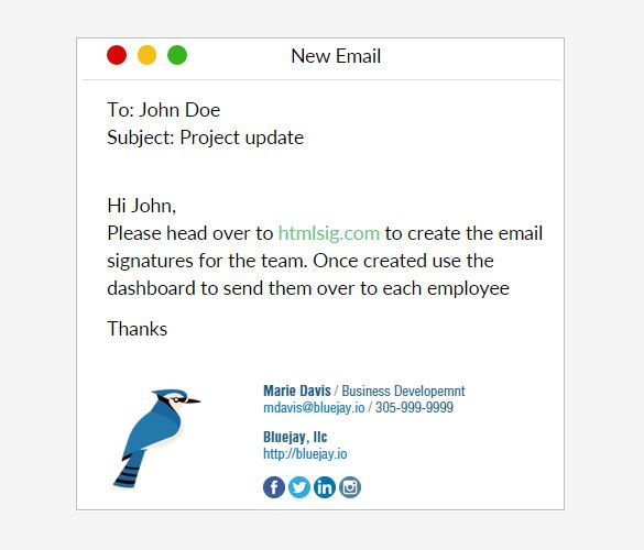 Use this free HTML email signature generator to randomly create custom email signatures that you can use in all your email communications, featuring image placeholders and social media widget support.