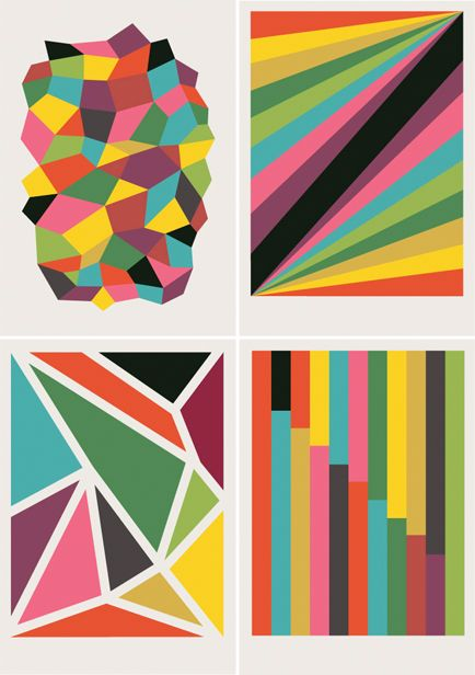 Geometric bright color prints from I Need Nice Things