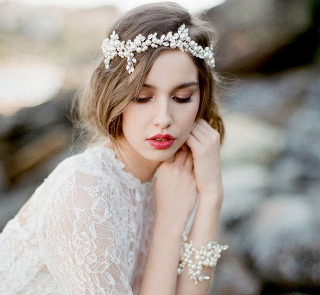 Haarbanden - Bridal Bloemen hoofdbanden - Een uniek product van oliviaWang op DaWanda