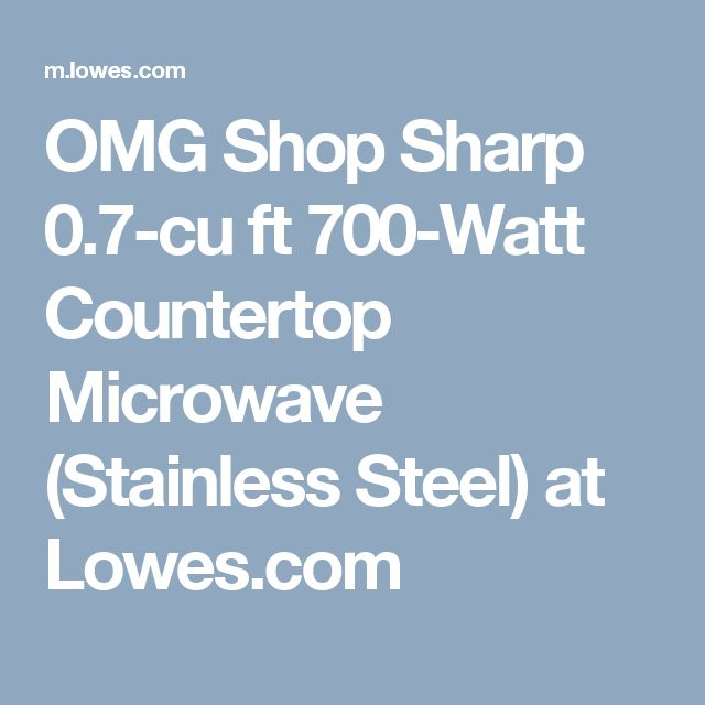 OMG Shop Sharp 0.7-cu ft 700-Watt Countertop Microwave (Stainless Steel) at Lowes.com