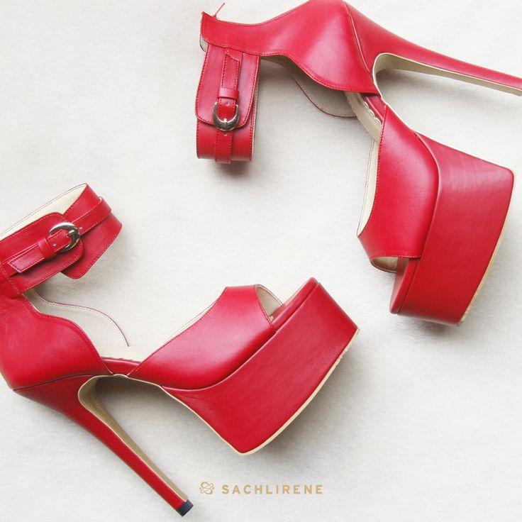 Simple yet Stunning. The shiny red color of madison, yeah? #sachlirenemadison #sachlirene