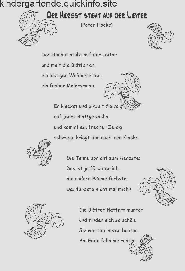 Herbst gedicht über Gedicht zum