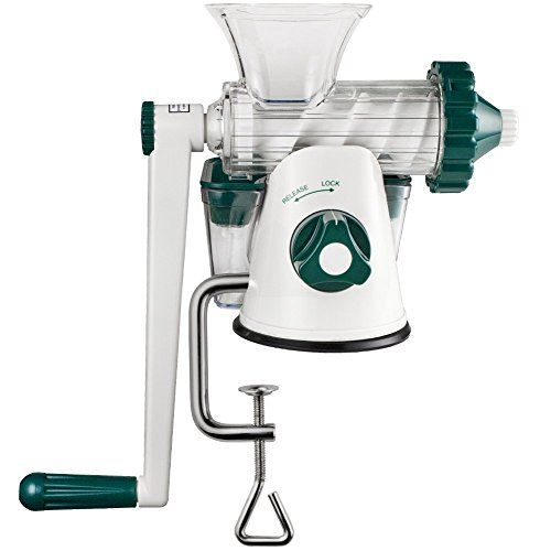 The Original Healthy Juicer (Lexen GP27) - Manual Wheatgrass Juicer - Kale, Spinach, Parsley and any other Leafy Green! Featuring a masticating live-enzyme cold press process! Lexen