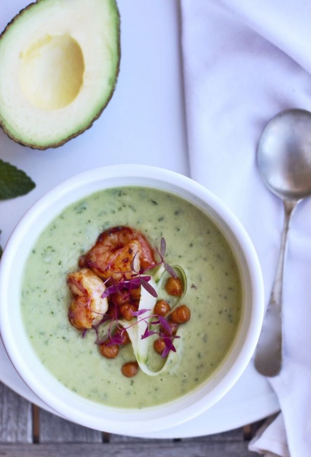 Avocado, Cucumber and Mint Soup
