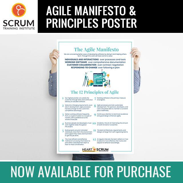 Agile Merchandise Agile Manifesto And Principles Poster Agile Training Orlando Fl Scrum Training Institute Manifesto Agile Manifesto Poster