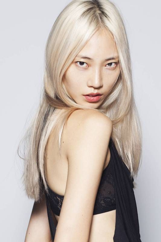 Blonde hair on an asian done right can be very complimentary to the skin tone