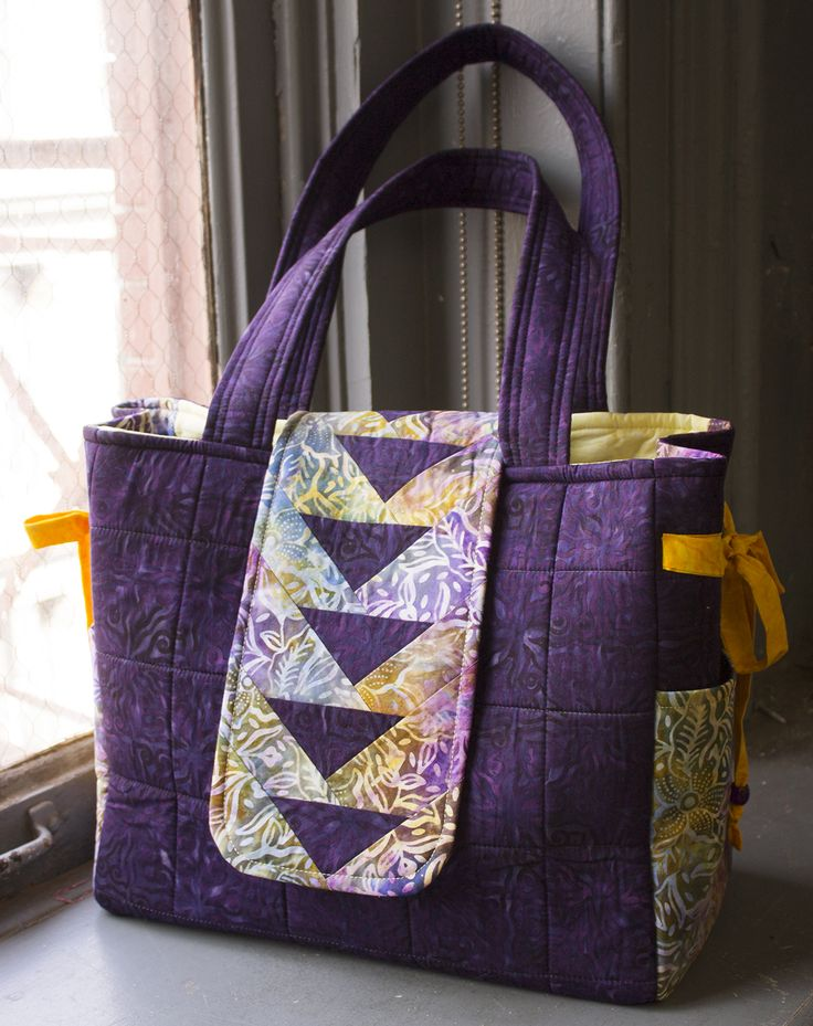 napa bag purple quilted