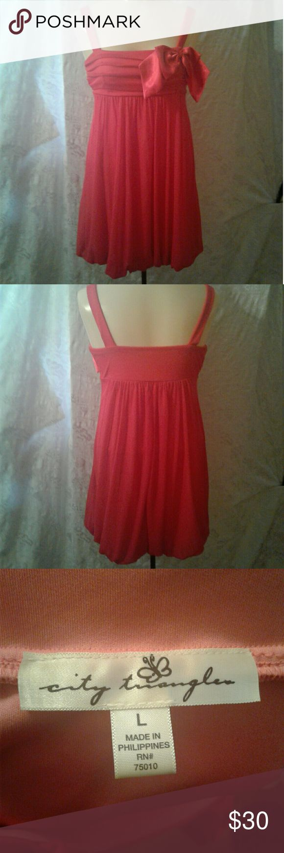 Sz Large pink dress City triangles size large pink occasion dress  Perfect for homecoming! Flawless EUC  From a smoke and pet free home  2 City Triangles Dresses