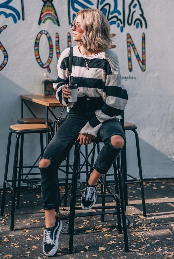 Hairstyles for school fall style l casual fashion sweater for school cute