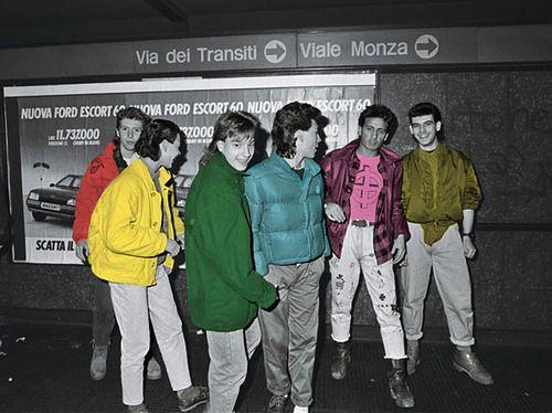 Paninaro, italian street culture, 80's