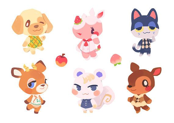 Animal Crossing Villager Stickers Made By Ieafy Animal Crossing