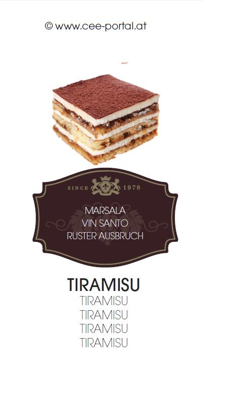 TIRAMISU MARSALA VIN SANTO RUSTER AUSBRUCH