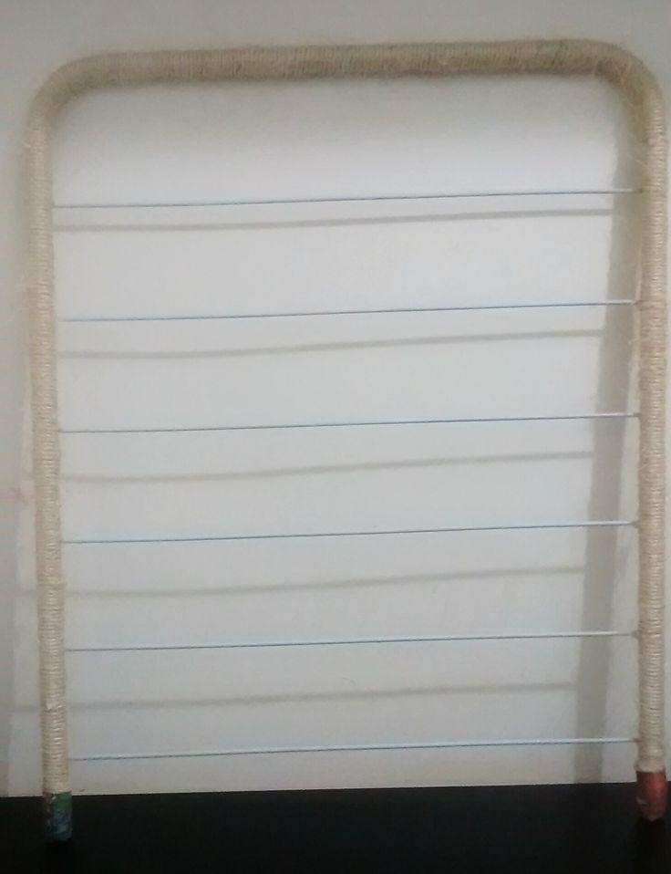 reciclagem de varal de teto que será usado na cozinha para pendurar utencílios