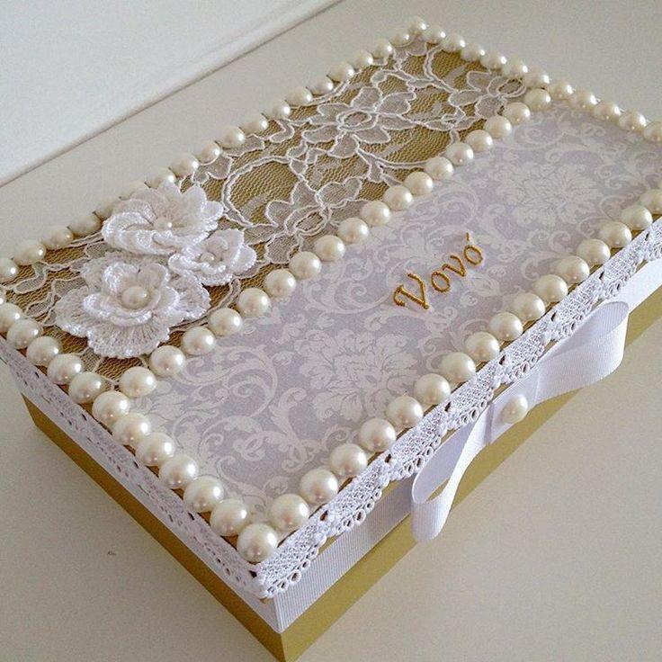 Acertando no presente ! caixa decorada especialmente para a vovó !!! #prontaentrega #atendendoapedidos #produtosnatura