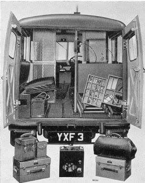 Interior Morris J Detector Van.