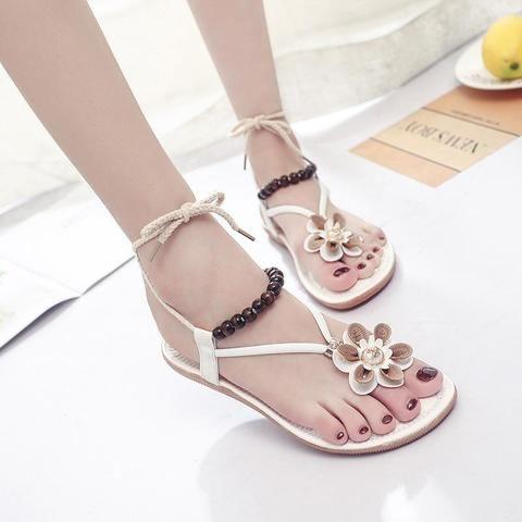 c555a13fd5968a Single Flower Bohemian Sandals-Sandal-JIASHA-white-4.5-TouchyStyle  Sandalias women Mujer 2018 new fashion simple flowers decoration Bohemian  sandals women ...