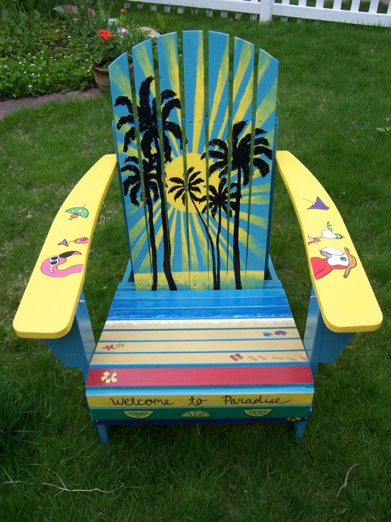 17 Best Images About Adirondack Chairs And Outside Painted
