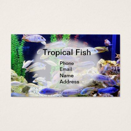 #Aquarium with beautiful tropical fish business card - #office #gifts #giftideas #business