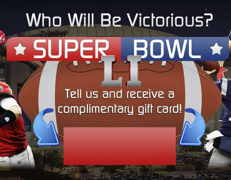 $500.00 gift card can be yours if you successfully follow through the survey, enter now to qualify and score big ahead of Super Bowl LI.