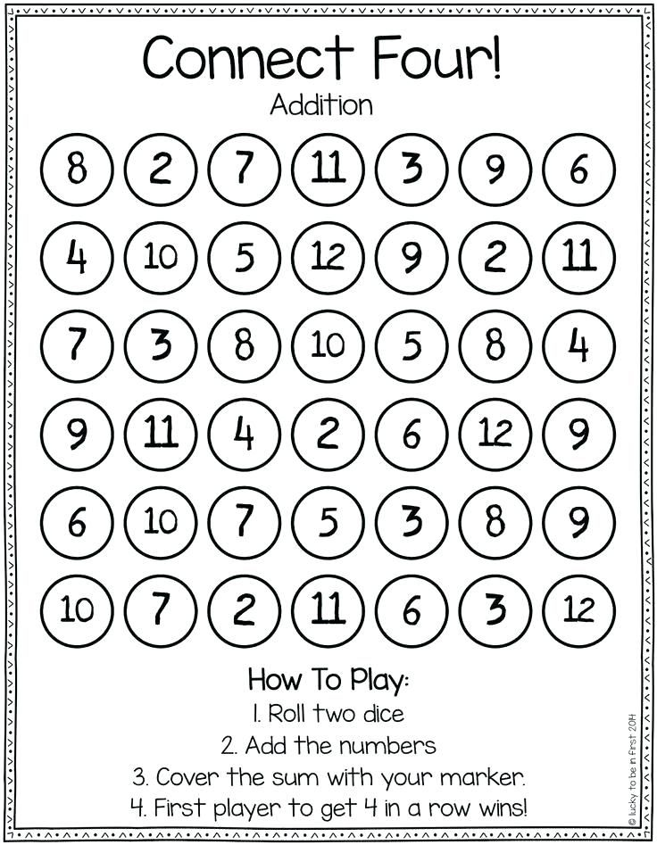 Image result for math dice games worksheets | Build math ...