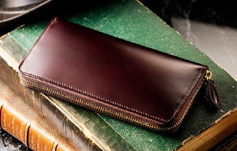 ハイブランドの革財布。マイスターコードバン・スカイスクレイパー