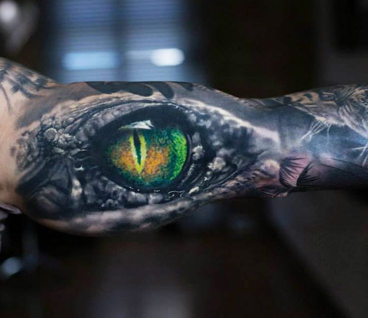 Realistic Eyes Tattoo by Denis Sivak  | Tattoo No. 13032