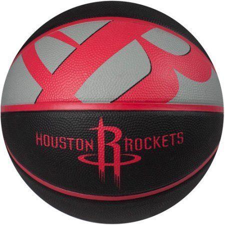 Spalding Team Logo Basketball, Houston Rockets, Red