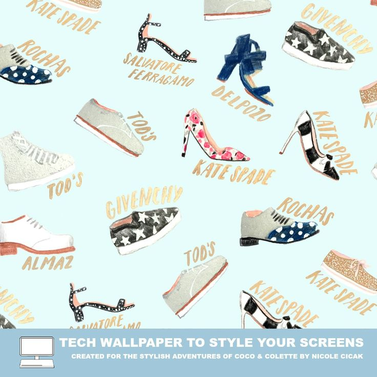 Tech Wallpaper FREE download  /  spring shoes featuring Karen Walker, Tods, Salvatore Ferragamo, Kate Spade, and Givenchy