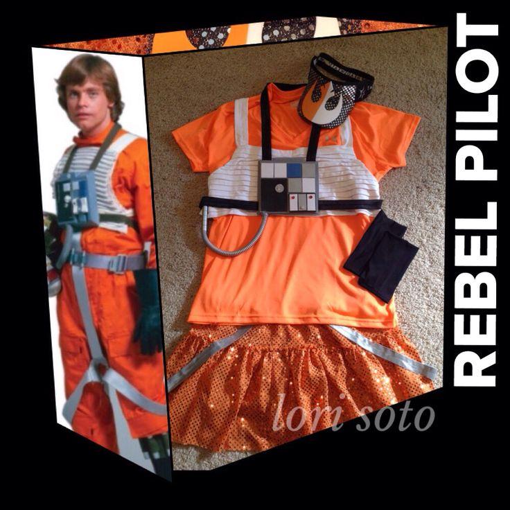 Rebel Pilot running costume for 2015 Star Wars Inaugural Half Marathon - runDisney. Photo and costume by Lori Soto.