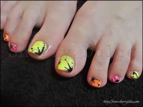 nail art /foot /Neon