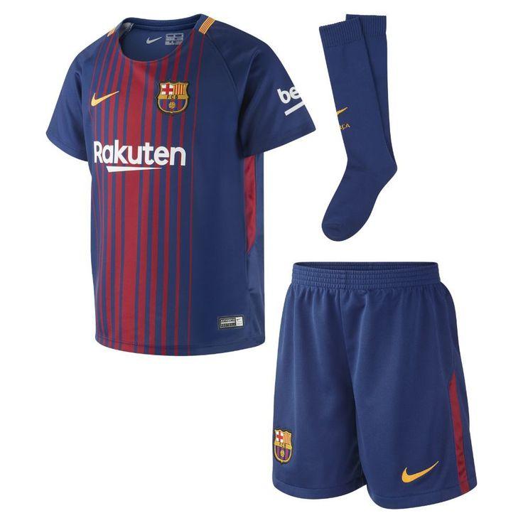 Nike 2017/18 FC Barcelona Stadium Home Little Kids' Soccer Kit Size Medium (Blue) #americanfootballtipsforkids