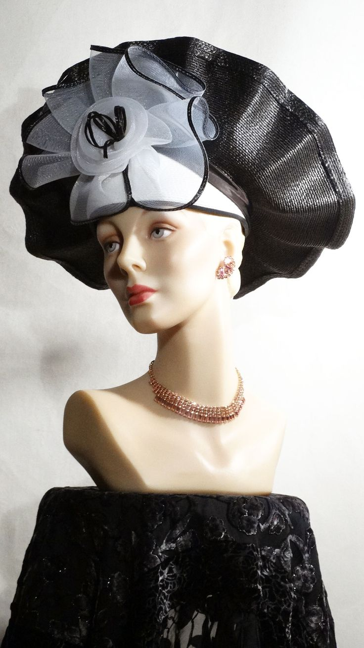 1990s Upturned brim fascinator by Sylvia