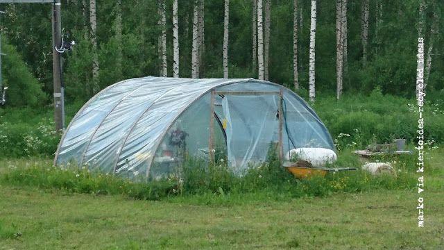 Trampoline greenhouse - trampoliinista kasvihuone