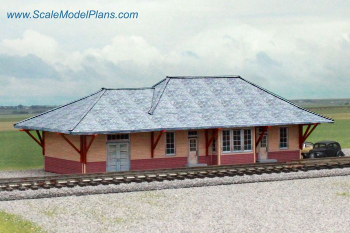 21 best images about model railroad cardstock structures for Railroad depot plans