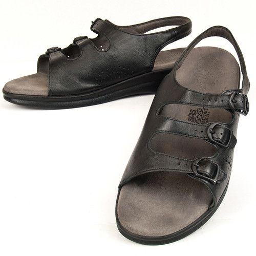 Size 10 Sas Tripad 3 Buckle Sling Back Leather Comfort Shoes Womens Orthopedic Women Shoes