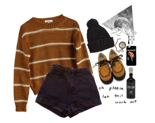 """""""Halloween 5th"""" by feed-the-skulls ❤ liked on Polyvore featuring Samuji, American Apparel and Halloween"""