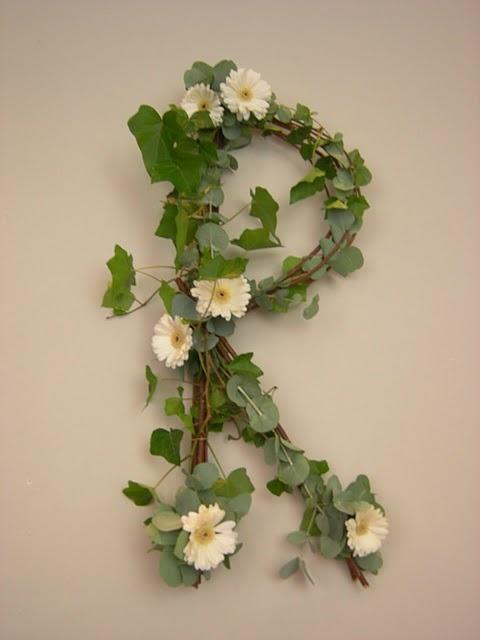 monogram floral arrangement