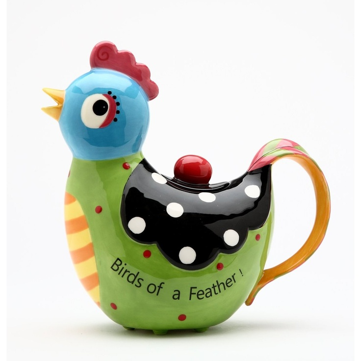 Amazon.com: Appletree 8-1/8-Inch Ceramic Rooster Teapot: Kitchen & Dining