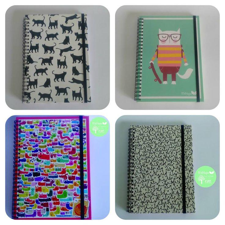 #Gatos #Gatitos y #Gatunos son parte de #HabiaUnaVez #Miau de #CuadernosMilHojas Cuadernos tapa dura A5 con hojas rayadas - lisas ecológicas - cuadriculadas -ahuesadas y cierre con elástico #CuadernosArtesanales hechos por #ManosJujeñas www.cuadernosmilhojas.com
