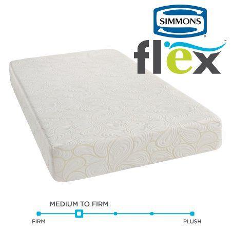 Simmons Flex 7.25 inch Twin XL Memory Foam Mattress in a Box, Multipule Sizes