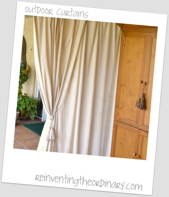 Hang outdoor curtains