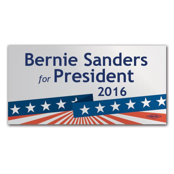 Bernie sanders for president 2016 bumper sticker bs63187 democraticstuff com