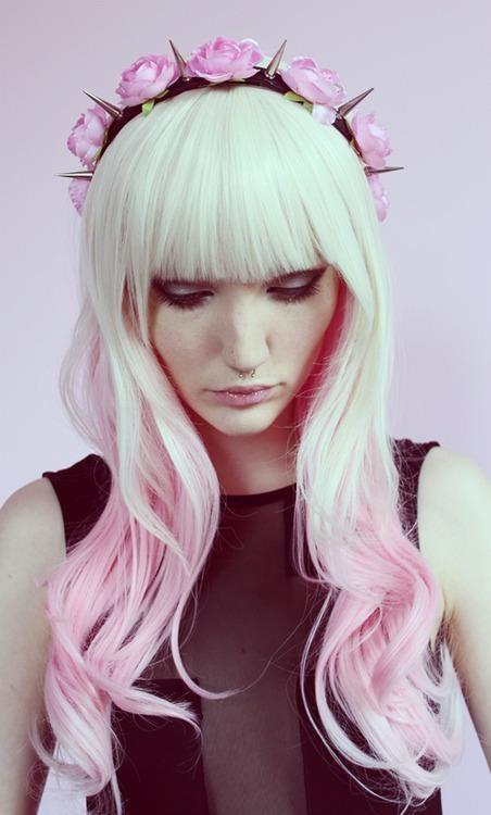 blonde to pink-headband-wig-cute