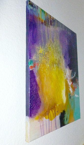 Les 20 meilleures id es de la cat gorie peintures acryliques abstraites sur pinterest toiles for Peinture couleur figue