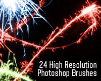"Free Photoshop Brushes: ""Sparkling Light Effects"" 