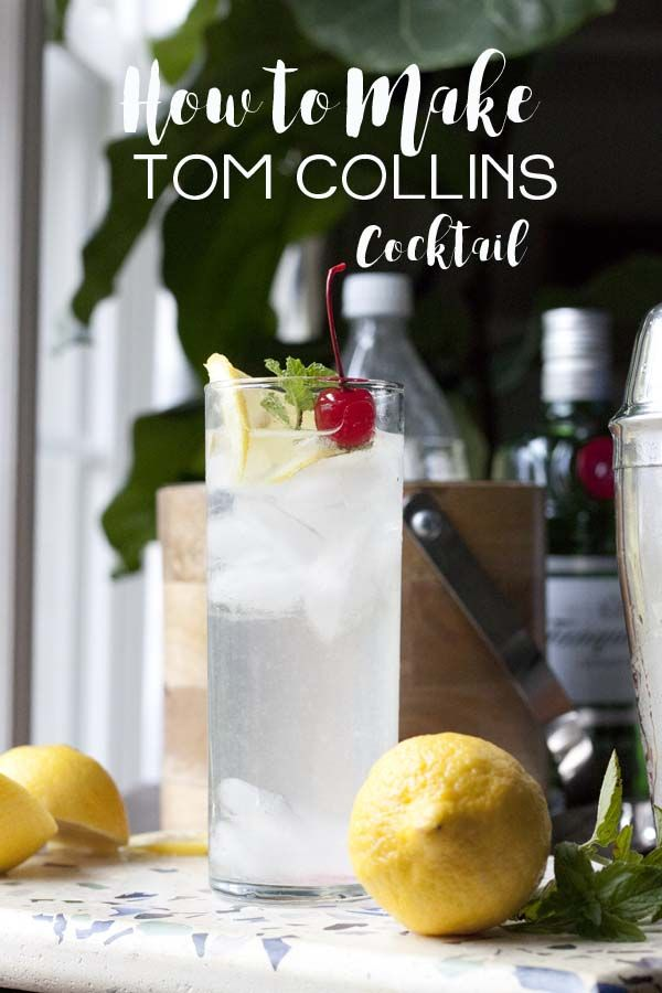 A timeless classic, the Tom Collins Cocktail is a kind of boozy, sparkling lemonade, sophisticated in its simplicity and especially delicious when using freshly squeezed lemons