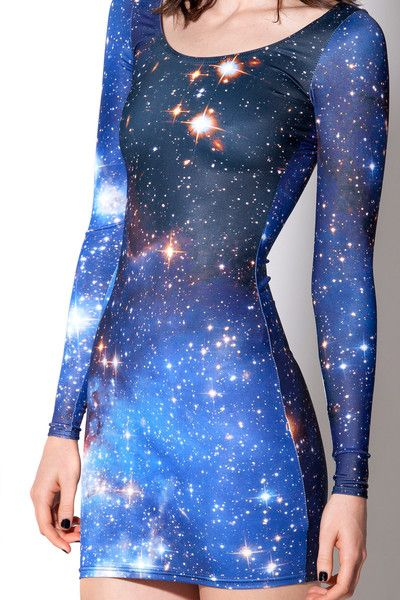 Galaxy Blue Long Sleeve Dress (Made to Order)