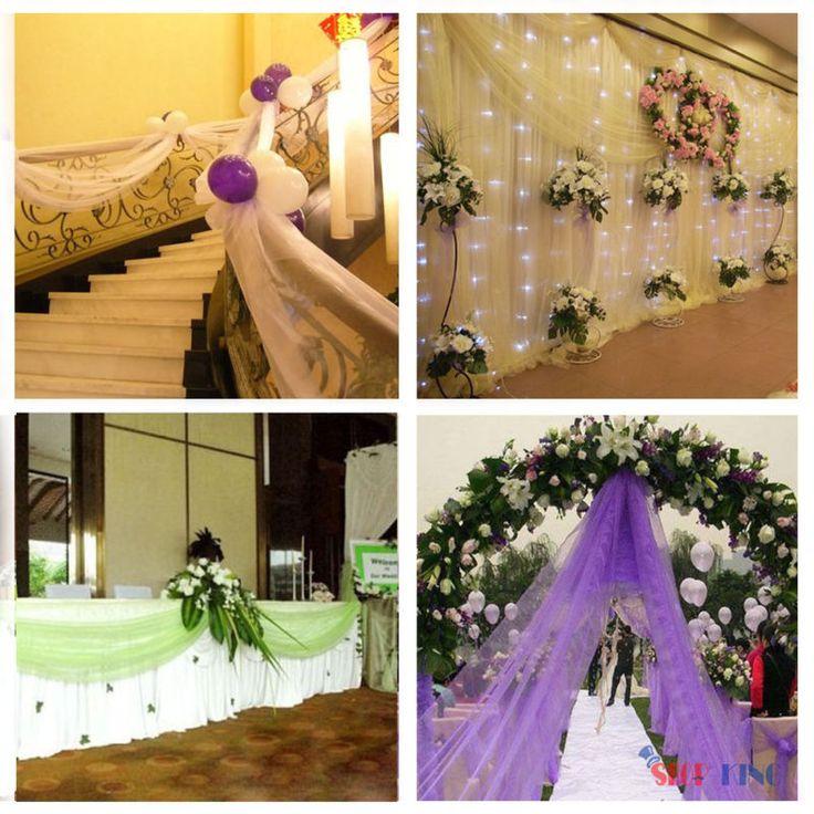 5x1.4M Sheer Organza Stoff Deko Geburtstag Hochzeit Party Bow DIY Ort Dekoration
