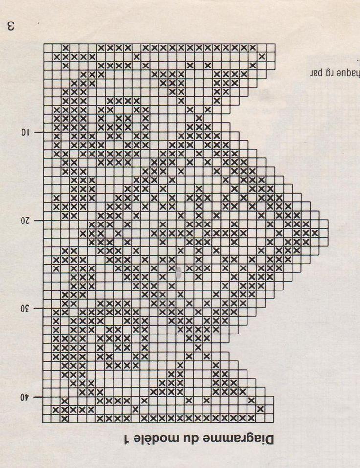 diagramme crochet offert pour rideau brise bise