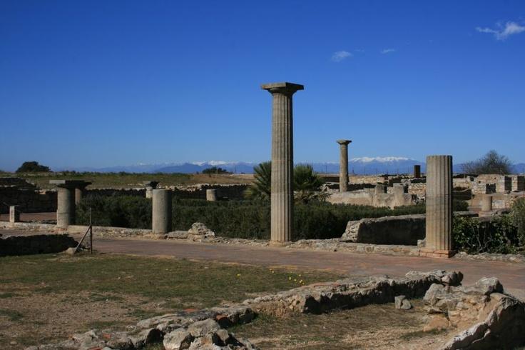 ruines d'empuries, costa brava  Roman ruins, costa brava